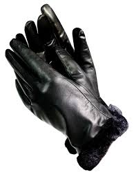 isotoner isotoner a56212 women s lined leather gloves with faux fur trim black 8 5 com