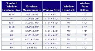 Envelope Sizes Faq S Standard Window Envelope Sizes