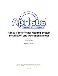 Dowfrost Freeze Chart Apricus Solar Water Heating System Installation And