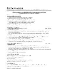Interesting Inventory Control Specialist Resume Objective For Your