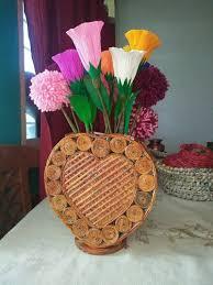 News Paper Flower Vase News Paper Flower Vase
