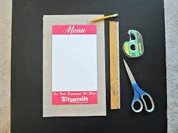 craft this ohio life i then used clear tape to adhere my menu to the center of the burlap paper i chose burlap because i have framed two burlap coffee sacks in my dining room