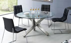 3 easy steps to finding your ideal round glass table amepac furniture throughout and chairs remodel