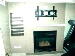 stone fireplace mount wall with ideas mounting a over tv on existing