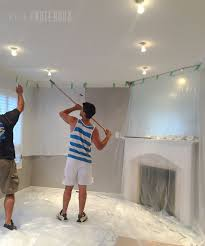 removing popcorn ceilings pink little
