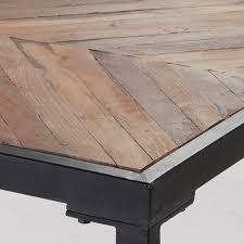 Arrova Esstisch Schwarz Holzplatte Recycelt Klein