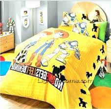 toy story bedding full twin size set yellow good friends bed sheets