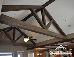 Vaulted ceiling wood beams Adding Vaulted Ceiling Truss Faux Wood Az Faux Beams How To Enhance Vaulted Ceilings With Beams Az Faux Beams