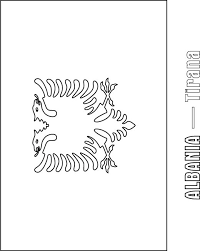 Small Picture Albania Flag Coloring Page Download Free Albania Flag Coloring