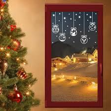 Christbaumkugeln 50cm Fensterdeko Weihnachten Winter Wandtattoo Fensterbilder Fenster Aufkleber Farbeorange