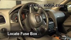 interior fuse box location 2007 2015 audi q7 2009 audi q7 premium locate interior fuse box and remove cover