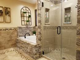 faux stone bathroom example using these panels