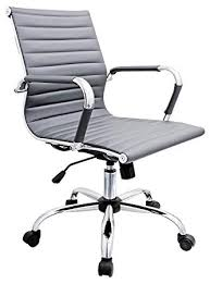 Image Arms Febland Grey Eames Style Office Chair Faux Leather Amazon Uk Febland Grey Eames Style Office Chair Faux Leather Amazoncouk