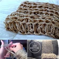 view in gallery arm knitting blanket tutorial fancy 45 minutes diy arm knitted blanket