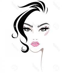 yellow face make up vector photostock vector ilration of women hair style icon logo women