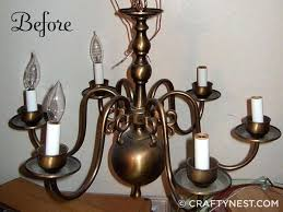 brass chandelier makeover before old home improvement magnificent with chalk paint diy and glass