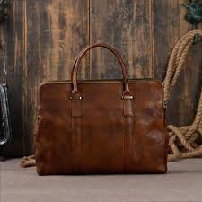 leather portfolio laptop bag briefcase mens uk men high quality messenger shoulder handbag