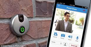front door appiDoorCam App Doorbell with camera and motion sensors shows whos