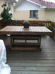 patio furniture made of pallets. a simple table for my pation made from recycled wooden pallet une de patio furniture of pallets