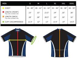 Bicyclinghub Com Cycling Jersey Sizing