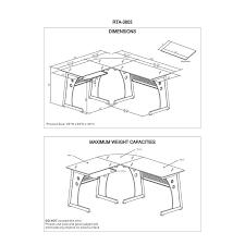 computer desk dimensions techni mobili l shaped frosted glass computer desk in graphite computer desk dimensions