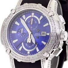 buy mens diamond watches wrist watch for men mens diamond watch aqua master nicky jam 5 00 ct blue dial
