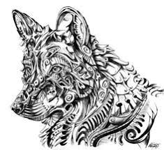 Hard Coloring Pages Of Wolves