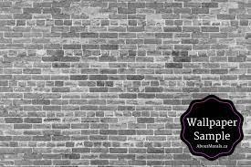 an old brick wallpaper sample black and white from aboutmurals ca
