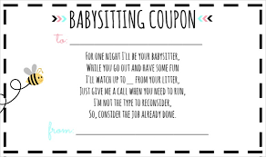 Free Online Babysitting Certification 13 Baby Sitting Voucher Templates Psd Ai Indesign Word