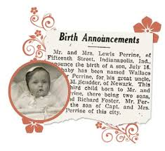Newspaper Birth Announcements Records Genealogybank