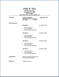 Resume References Template Basic Resume Outline Template