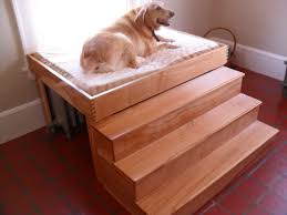Gorgeous Dog Beds With Stair Bedside Dog Bed With Stairs For