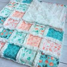 Rag Quilt Nautical Baby Baby Rag Quilt Crib Quilt by WatchMyDive ... & Find this Pin and more on Sew Cute Blankets. Mermaid Quilt ... Adamdwight.com