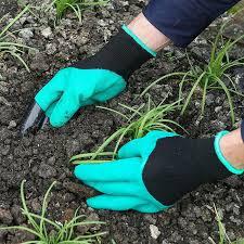Rękawice ogrodnicze z plastikowymi końcówkami na palce | ShipGratis.eu