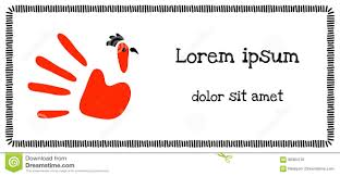 Funny Child S Hand Imprint With A Rooster Drawing Vector