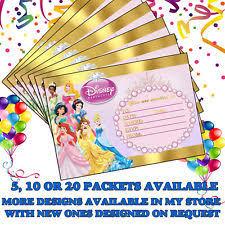 Princess Party Invitations Ebay