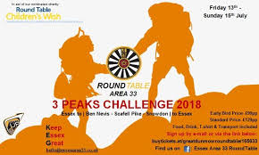 on 13th july 2018 members and friends of round table in area 33 will be jetting off in minibuses to conquer the three peaks challenge scaling ben nevis