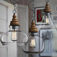 industrial lighting for home. Creative Loft Style Vintage Industrial Pendant Lights Three Shades Glass Ceiling Lamp For Office Kitchen Bar Study Home Decor-in From Lighting A