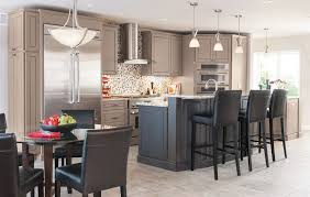 masterbrand cabinets for a modern kitchen with a modern and painted kitchen cabinets with black island