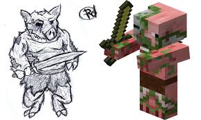 minecraft coloring pages zombie pigman