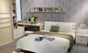 Bedroom:Elegant Minimalist Bedroom Design With Cream Bed Sheet And Cozy  Brown Sofa Ideas Interisting