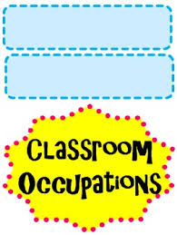 Occupation Chart Pictures Classroom Job Occupation Titles For Chart