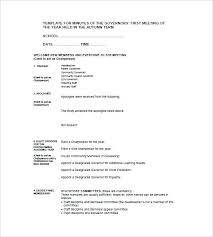 Meeting Minutes Format Example Sample Corporate Minutes Template Corporate Board Meeting Minutes