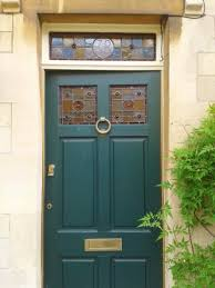 traditonal front door stained glass panels corsham