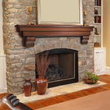 decorating modern rustic fireplace mantel natural wood fireplace