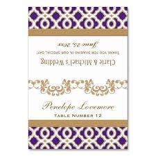 Fold Over Place Cards Diy Purple Gold Moroccan Fold Over Place Cards Zazzle Co Uk