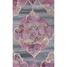 nuloom fallon grey 4 ft x 6 ft area rug