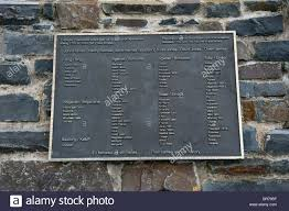 a plac showing all the ships that were bullied in aberaeron west Stock  Photo - Alamy