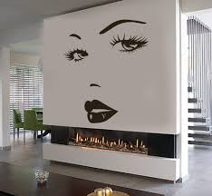 Small Picture Eyes Wall Sticker Vinyl Decal Beauty Salon Woman Face Lips Girl