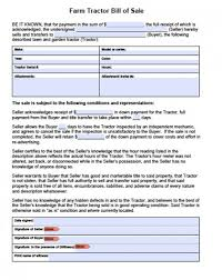 Download Farm Tractor Bill Of Sale Form | Pdf | Rtf | Word (.doc ...